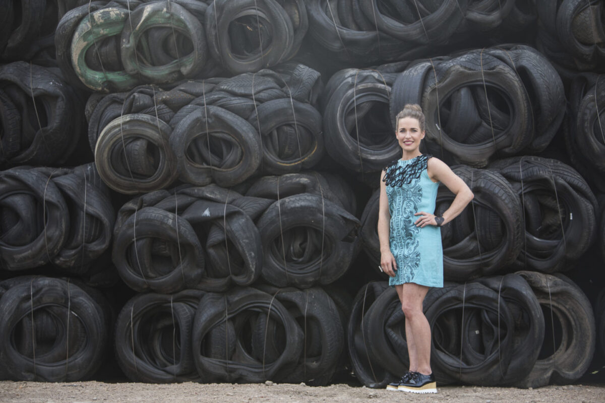 Designer and jeweller Roché van den Berg gives new life to old rubber