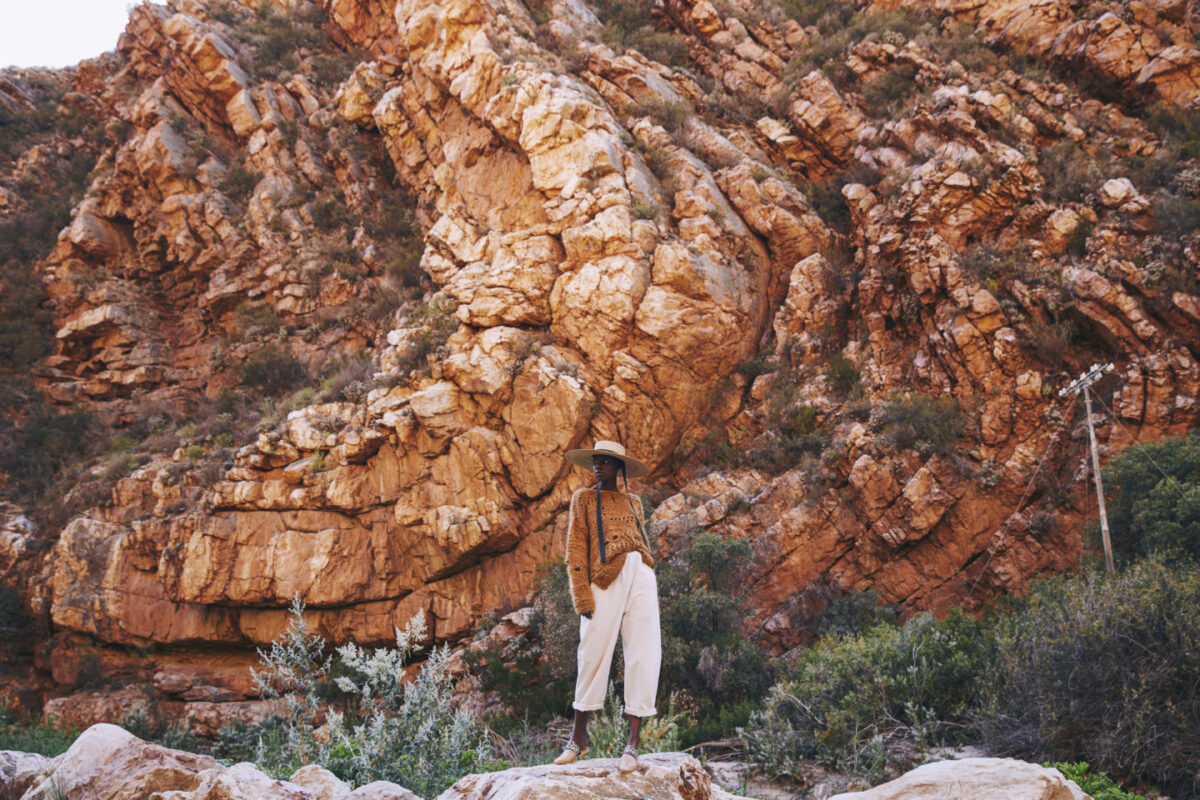 FVH X LM knits mohair with heritage of local craft and Karoo landscape