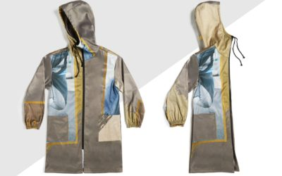 The Covid coat offers upcycled protection
