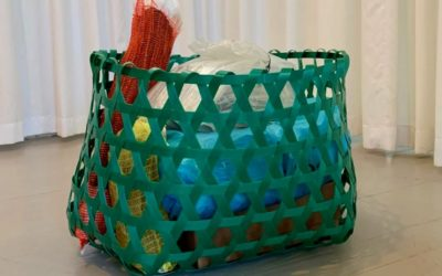 For #RefashionPlastic Our Workshop weaves baskets from recycled plastic