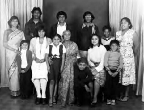 Pillay family photo. Pavs Pillay seen front row sitting on her grandmother's (Mrs TP Pillay) knee. PHOTO: Supplied