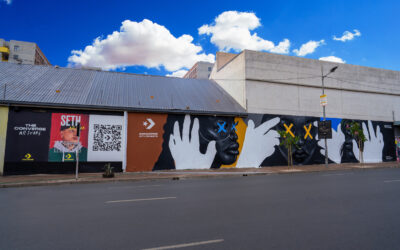 Artist Seth Pimentel creates pollution-eating mural in downtown Joburg